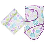 MiracleWare Colorful Bursts Miracle Blanket and Muslin Swaddle Set in Purple/Blue