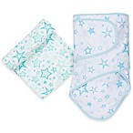 MiracleWare Stars Miracle Blanket and Muslin Swaddle Set in Aqua