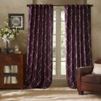 Bombay™ Garrison 108-Inch Rod Pocket/Back Tab Window Curtain Panel in Berry