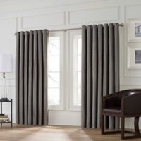 Valeron Stradivari 120-Inch Room Darkening Window Curtain Panel in Charcoal