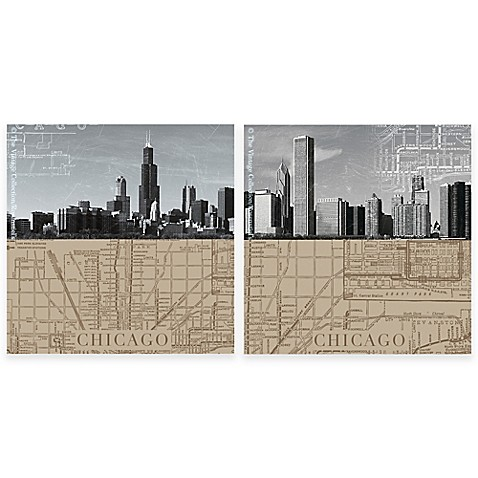 thirstystone chicago maps coasters set of 4 bed bath beyond. Black Bedroom Furniture Sets. Home Design Ideas