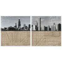 Thirstystone® Chicago Maps Coasters (Set of 4)