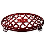La Cuisine Cast Iron 10-Inch x 7-Inch Oval Trivet in Red