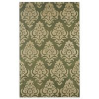 Rizzy Home Bradberry Downs Damask 5-Foot x 8-Foot Area Rug in Green