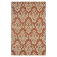 Rizzy Home Bradberry Downs Damask 5-Foot x 8-Foot Area Rug in Rust