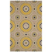 Rizzy Home Bradberry Downs Medallion 8-Foot x 10-Foot Area Rug in Light Gold