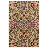 Rizzy Home Bradberry Downs Multi Damask 5-Foot x 8-Foot Area Rug in Ivory/Red