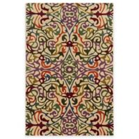 Rizzy Home Bradberry Downs Multi Damask 8-Foot x 10-Foot Area Rug in Ivory/Red