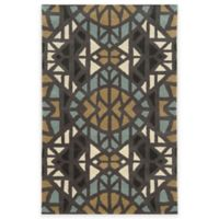 Rizzy Home Bradberry Downs Mosaic Tile 3-Foot x 5-Foot Area Rug in Grey/Blue