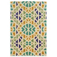 Rizzy Home Bradberry Downs Mosaic Tile 5-Foot x 8-Foot Area Rug in Ivory/Blue