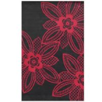 Rizzy Home Bradberry Downs Lace Floral 3-Foot x 5-Foot Area Rug in Fuchsia