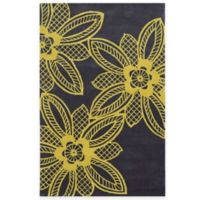 Rizzy Home Bradberry Downs Lace Floral 5-Foot x 8-Foot Area Rug in Gold