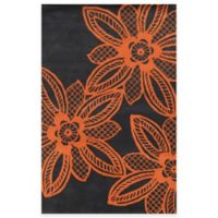 Rizzy Home Bradberry Downs Lace Floral 8-Foot x 10-Foot Area Rug in Orange