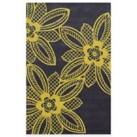 Rizzy Home Bradberry Downs Lace Floral 8-Foot x 10-Foot Area Rug in Gold