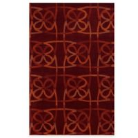 Rizzy Home Bradberry Downs Scribble 8-Foot x 10-Foot Area Rug in Scarlet