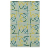 Rizzy Home Bradberry Downs Scribble 8-Foot x 10-Foot Area Rug in Sky Blue