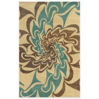 Rizzy Home Bradberry Downs Swirl 8-Foot x 10-Foot Area Rug in Ivory/Blue