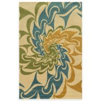 Rizzy Home Bradberry Downs Swirl 8-Foot x 10-Foot Area Rug in Ivory/Gold