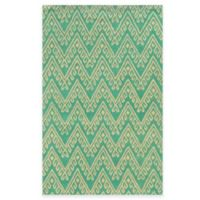 Rizzy Home Bradberry Downs Chevron 2-Foot x 3-Foot Accent Rug in Teal