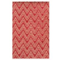 Rizzy Home Bradberry Downs Chevron 5-Foot x 8-Foot Area Rug in Hot Pink