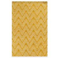 Rizzy Home Bradberry Downs Chevron 5-Foot x 8-Foot Area Rug in Yellow