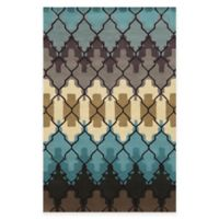 Rizzy Home Bradberry Downs Trellis 8-Foot x 10-Foot Area Rug in White