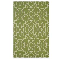 Rizzy Home Bradberry Downs Fretwork 5-Foot x 8-Foot Area Rug in Lime/White