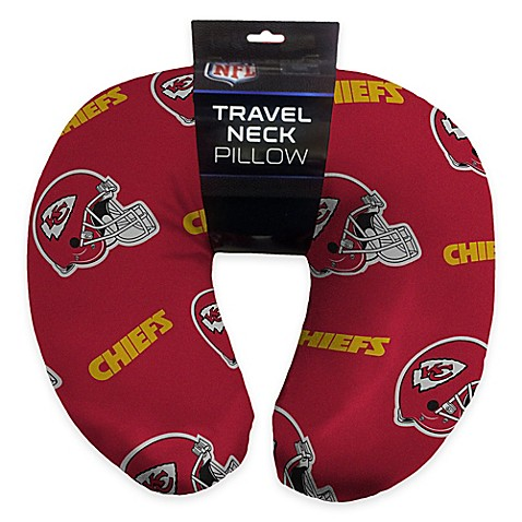 nfl kansas city chiefs travel neck pillow bed bath beyond