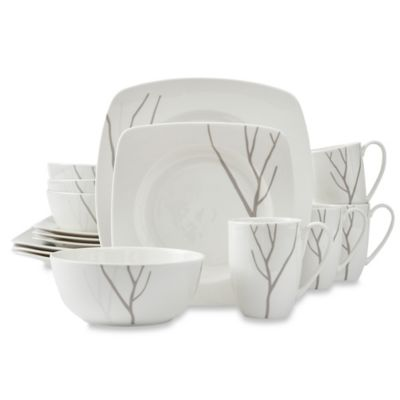 Lenox® Park City™ 16-Piece Square Dinnerware Set  sc 1 st  Bed Bath u0026 Beyond & Buy Modern Square Dinnerware Sets from Bed Bath u0026 Beyond