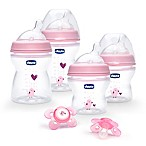 Chicco® NaturalFit® Stage 1 Feeding Gift Set in Pink Deco