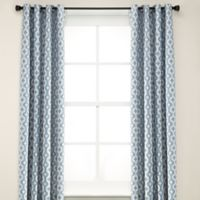 Anello 84-Inch Grommet Top Window Curtain Panel in Sky