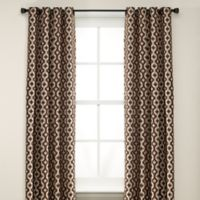 Anello 63-Inch Grommet Top Window Curtain Panel in Brown