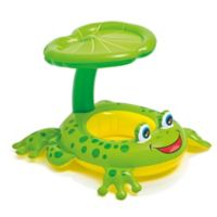 Intex® Froggy Friend Baby Float with Leaf Sunshade in Green