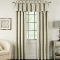 Beatrix 18-Inch Rod Pocket Lined Window Curtain Valance in Taupe