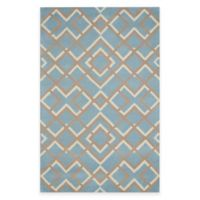 Rizzy Home Bradberry Downs Diamonds 5-Foot x 8-Foot Area Rug in Light Blue