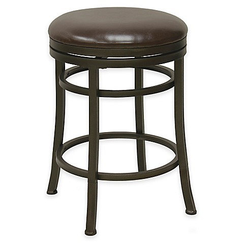 Buy Monroe 30 Inch Backless Swivel Barstool In Bronze From