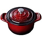 La Cuisine 4-Inch Mini Round Cast Iron Casserole in Red
