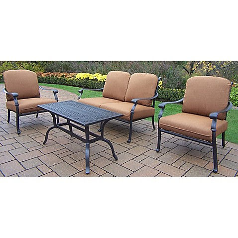 Oakland Living Clairmont Patio Furniture Collection With Sunbrella Cushions Bed Bath Beyond