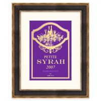Syrah Wine Label Framed Wall Art