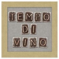 "Typography ""Tempo di Vino"" Framed Wall Art"