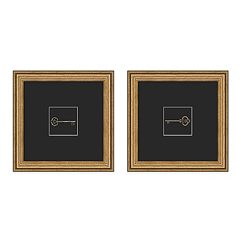Skeleton Key Framed Wall Art - Bed Bath & Beyond