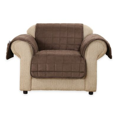 Sure Fit® Deep Pile Velvet Chair Cover In Chocolate
