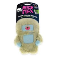 Alien Flex Harry the Alien Squeaking Dog Toy in Off White/Blue