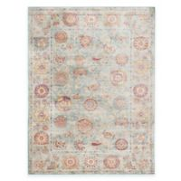 Safavieh Sevilla Medallion Border 9-Foot 6-Inch x 13-Foot Area Rug in Light Blue