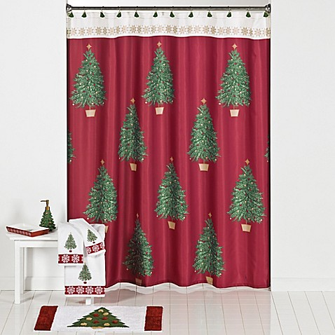 traditional tree shower curtain and hook set bed bath