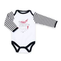 "Cutie Pie® Size 3-6M ""First New Year!"" Long Sleeve Bodysuit in White"