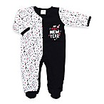 Cutie Pie® Size 0-3M  My First New Year!  Footie in White/Black