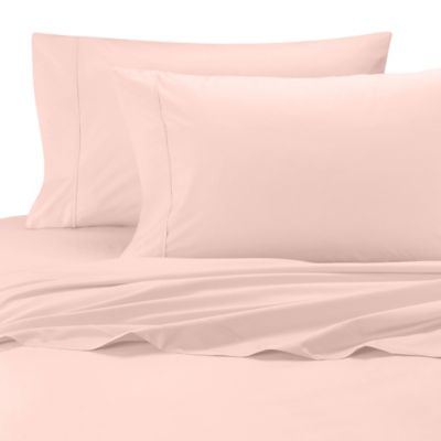 Wamsutta® Cool Touch Percale Egyptian Cotton Olympic Queen Flat Sheet In  Pink