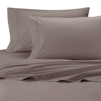 Wamsutta® Cool Touch Percale Egyptian Cotton Olympic Queen Flat Sheet In  Canvas