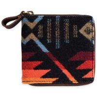 Pendleton® Small Zip Wallet in Coyote Butte Black
